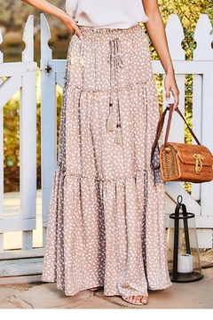 Main Strip Printed Maxi Skirt - Product List Image