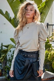 Main Strip Puff Sleeve Top - Front cropped