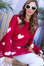 Main Strip Red Heart Sweater - Product Mini Image