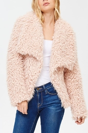 Main Strip Shaggy Collar Jacket - Product Mini Image