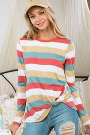 Main Strip Stella Striped Top - Product Mini Image