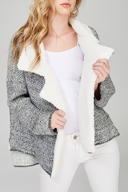 Main Strip Textured Moto Cardigan - Product Mini Image
