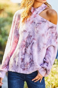 Main Strip Tie Dye Sweater - Product List Image