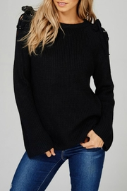 Main Strip Tie Shoulder Sweater - Product Mini Image