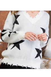 Main Strip V-Neck Long Sleeve Sweater - Product Mini Image