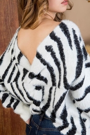 Main Strip Zebra Print Sweater - Product Mini Image