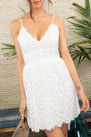 Mainstrip Crochet Lace Mini-Dress - Product Mini Image
