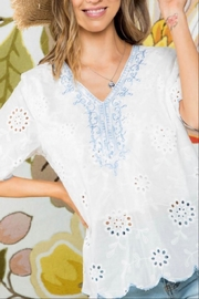 Mainstrip Embroidered Cotton Top - Back cropped