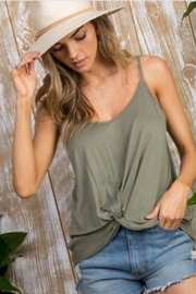 Mainstrip Olive Knot Tank - Front cropped