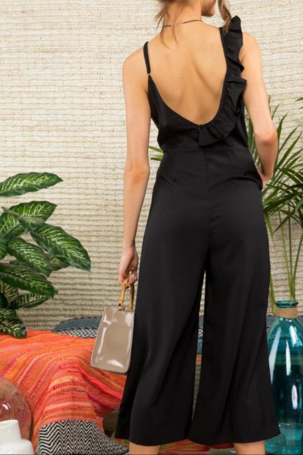 Mainstrip Ruffle One-Shoulder Jumpsuit - Side Cropped Image