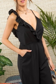 Mainstrip Ruffle One-Shoulder Jumpsuit - Front full body