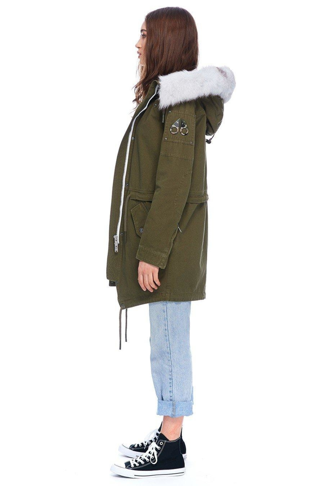 Moose Knuckles  Mainville Canvas Parka - Front Full Image