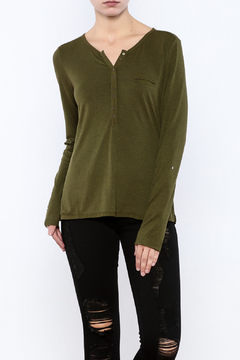 Shoptiques Product: Dark Olive Knit Top