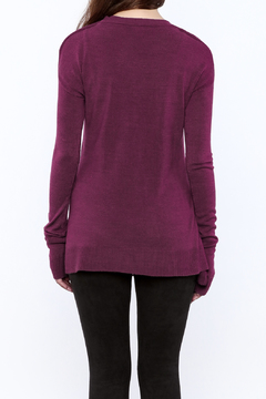 Shoptiques Product: Magenta Ladies Pull Over Sweater