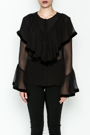 Maison Pere Crinkle Sheer Blouse - Front full body