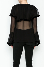 Maison Pere Crinkle Sheer Blouse - Back cropped