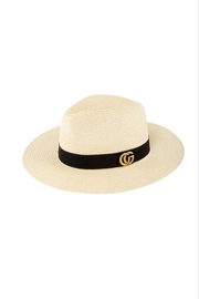 Maison A Gg Straw Fedora - Front cropped