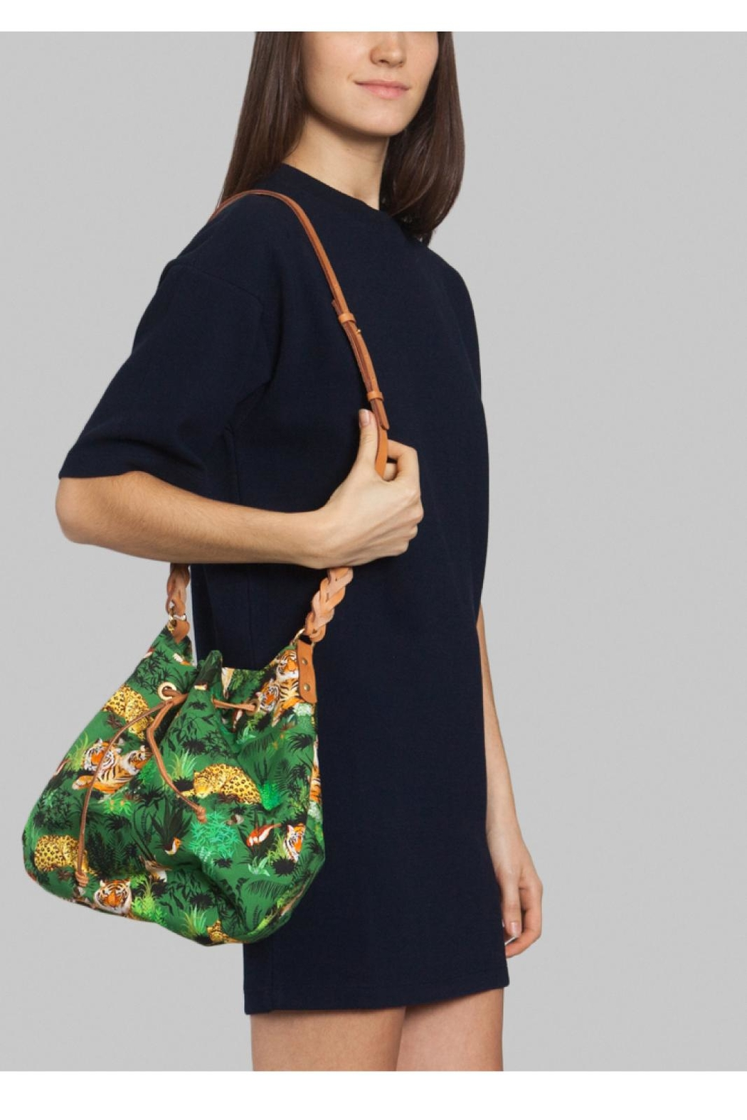 Maison Baluchon Printed Jungle Bag - Front Full Image