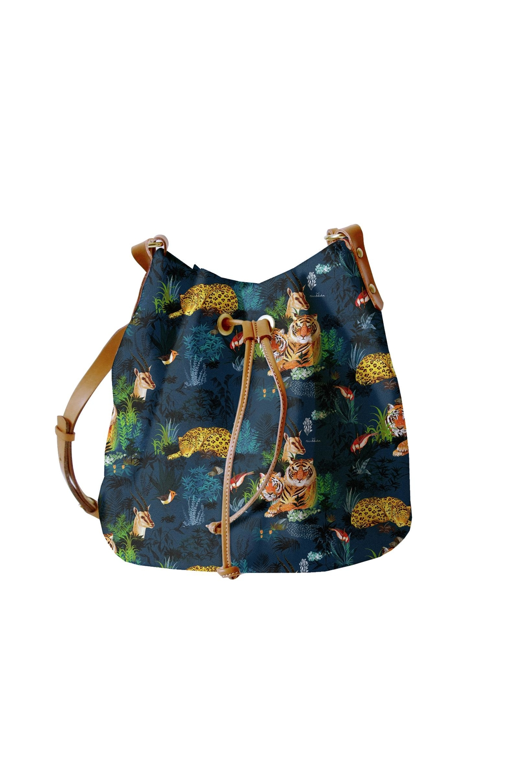 Maison Baluchon Printed Jungle Bag - Front Cropped Image