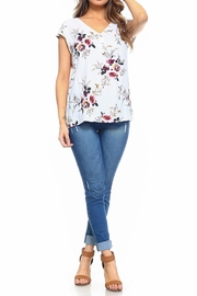 Maison Coupe Floral Top - Front full body