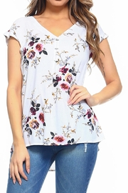 Maison Coupe Floral Top - Front cropped