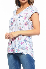 Maison Coupe Floral Top - Back cropped