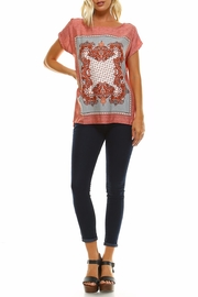 Maison Coupe Printed Woven Top - Front full body