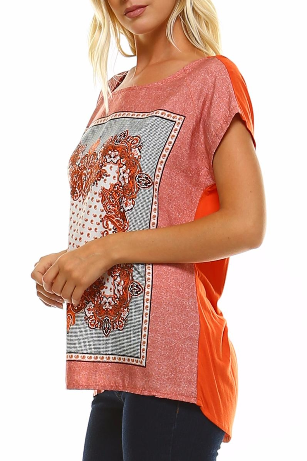 Maison Coupe Printed Woven Top - Back Cropped Image