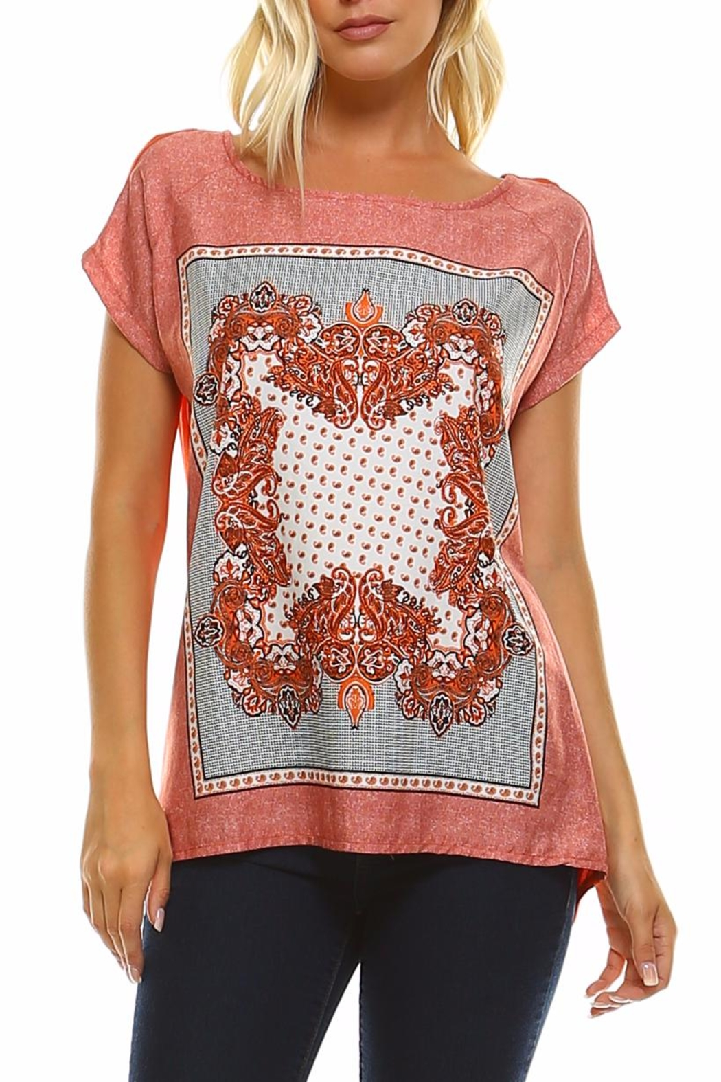 Maison Coupe Printed Woven Top - Main Image