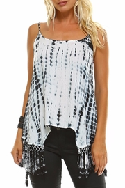 Maison Coupe Fringed Tie Dye Tank Top - Front cropped