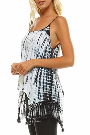 Maison Coupe Fringed Tie Dye Tank Top - Side cropped