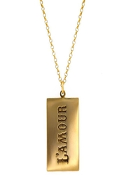 Maison Irem L'amour Tag Necklace - Product Mini Image