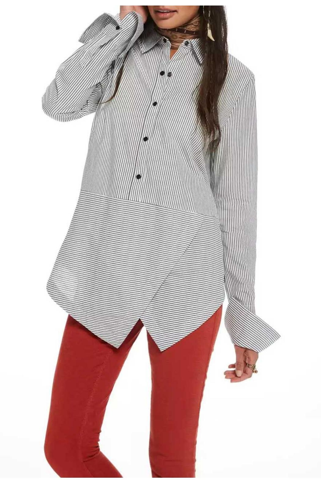Maison Scotch Angled Hem Shirt - Front Full Image