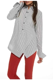 Maison Scotch Angled Hem Shirt - Front full body