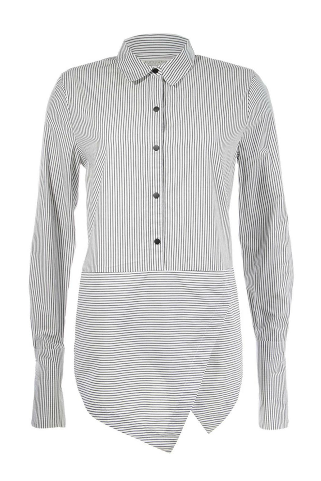 Maison Scotch Angled Hem Shirt - Main Image