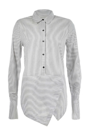 Maison Scotch Angled Hem Shirt - Front cropped
