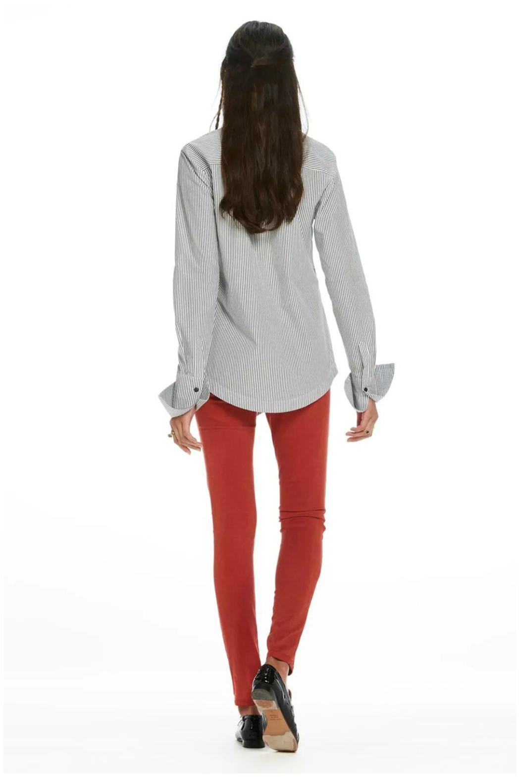 Maison Scotch Angled Hem Shirt - Side Cropped Image