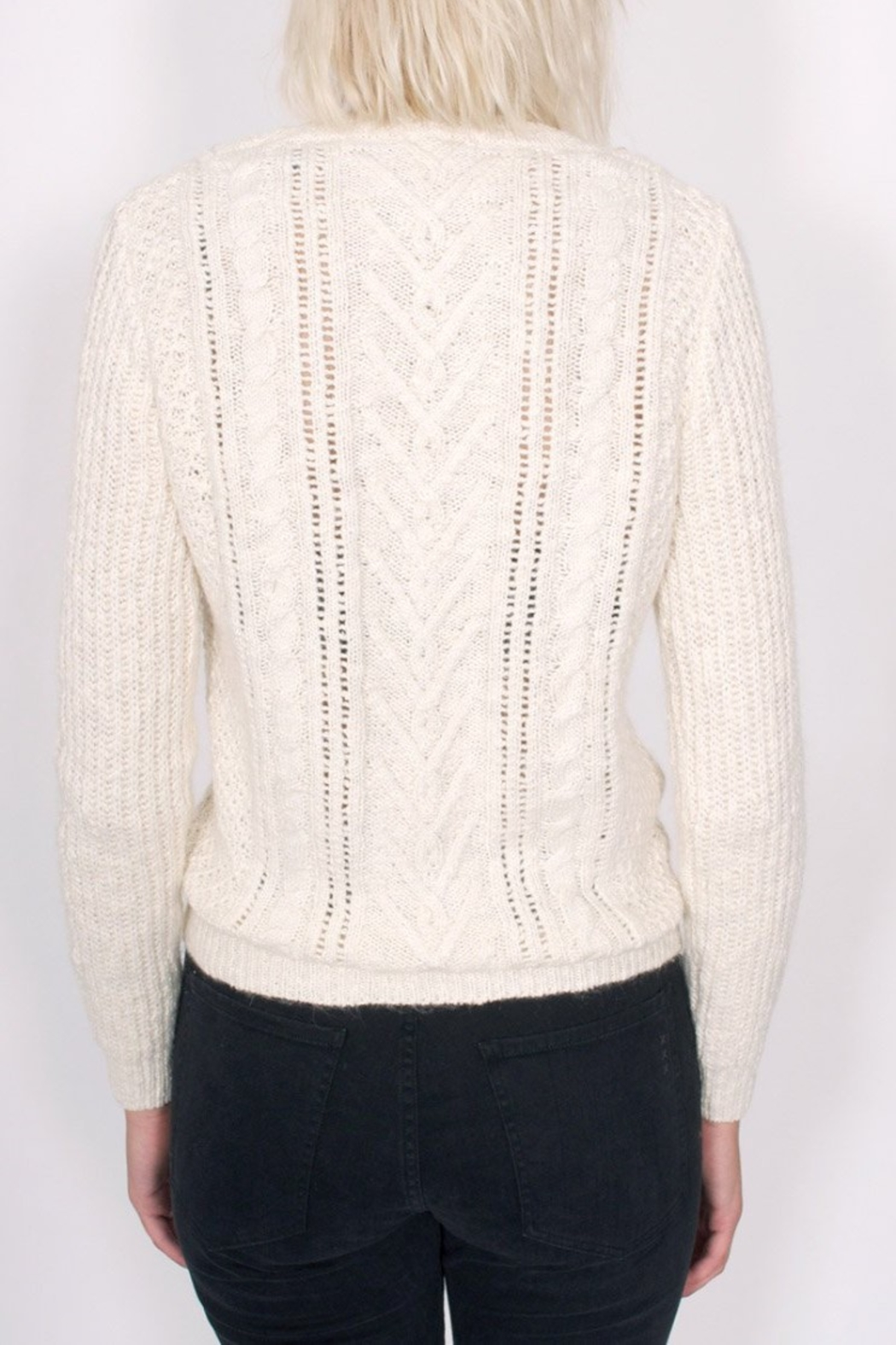 Maison Scotch Cable Stitched Sweater - Side Cropped Image