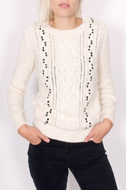 Maison Scotch Cable Stitched Sweater - Front cropped