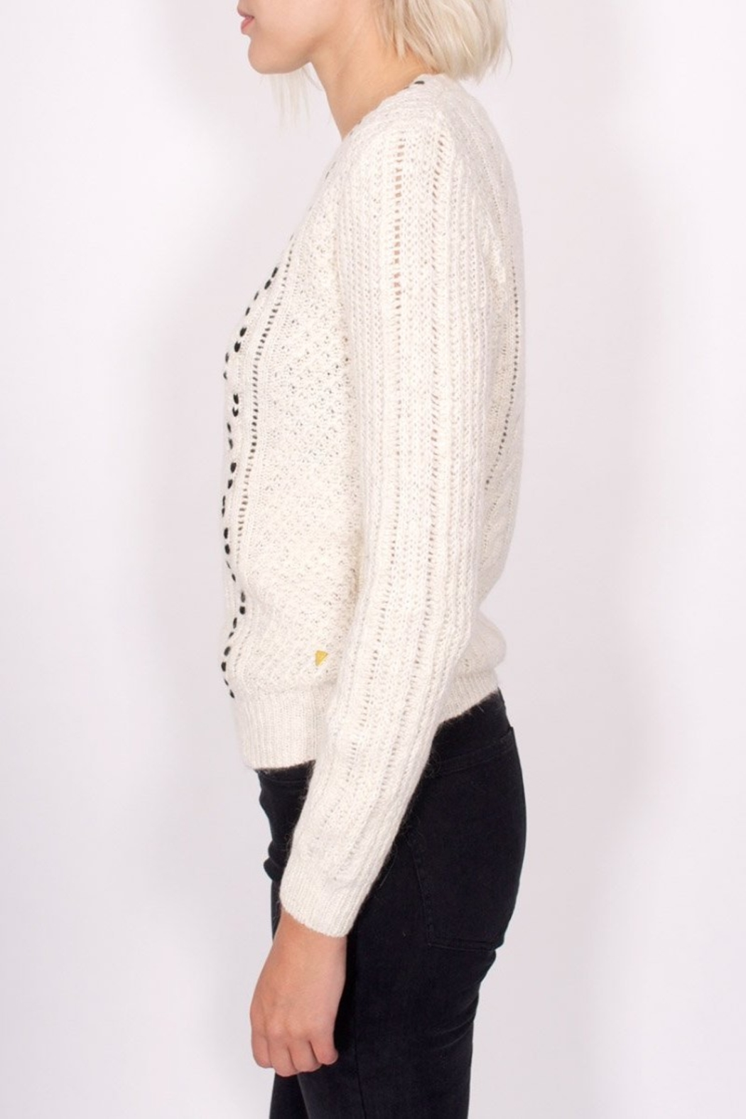 Maison Scotch Cable Stitched Sweater - Front Full Image