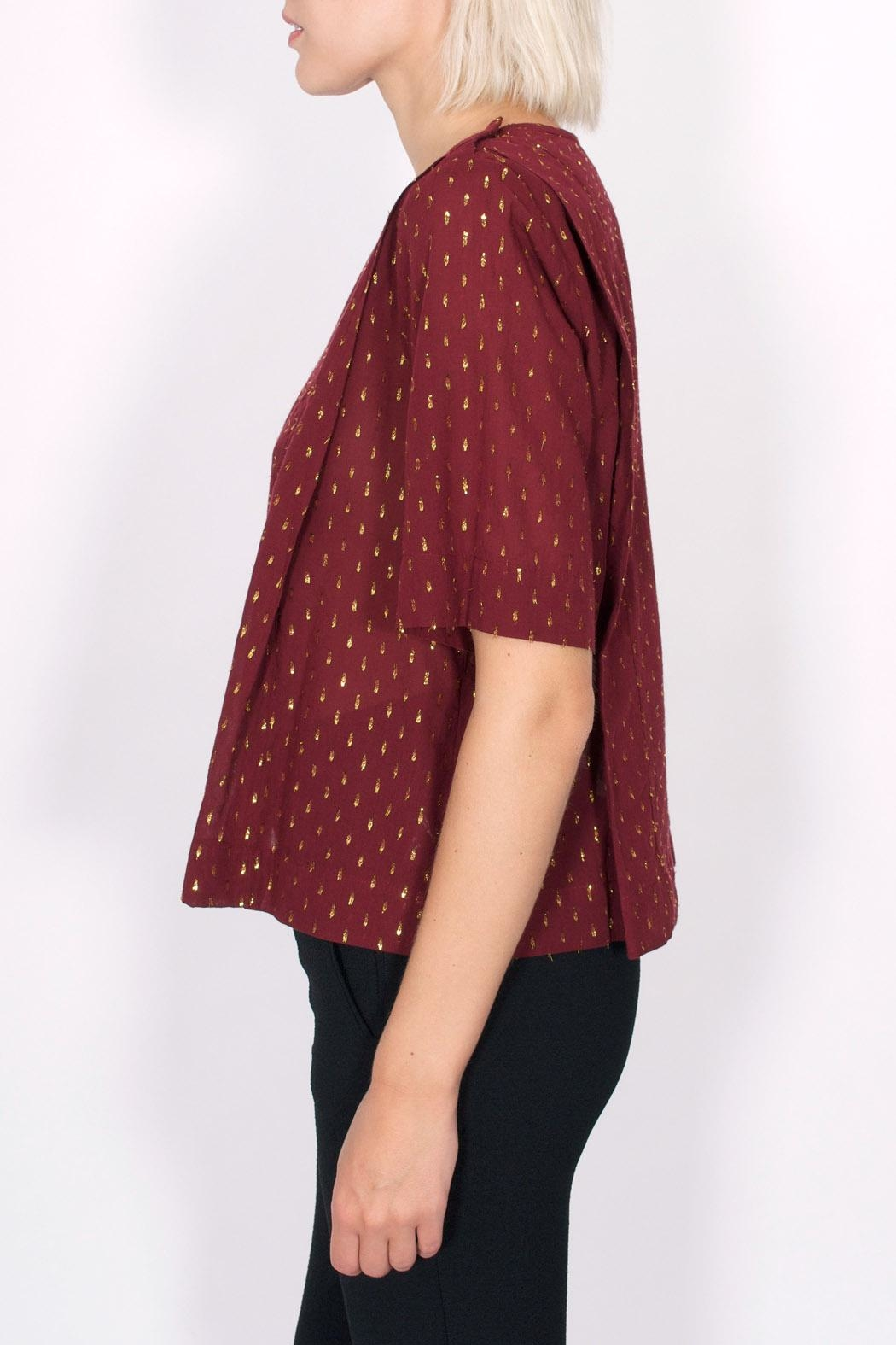 Maison Scotch Dobby Lurex Top - Front Full Image