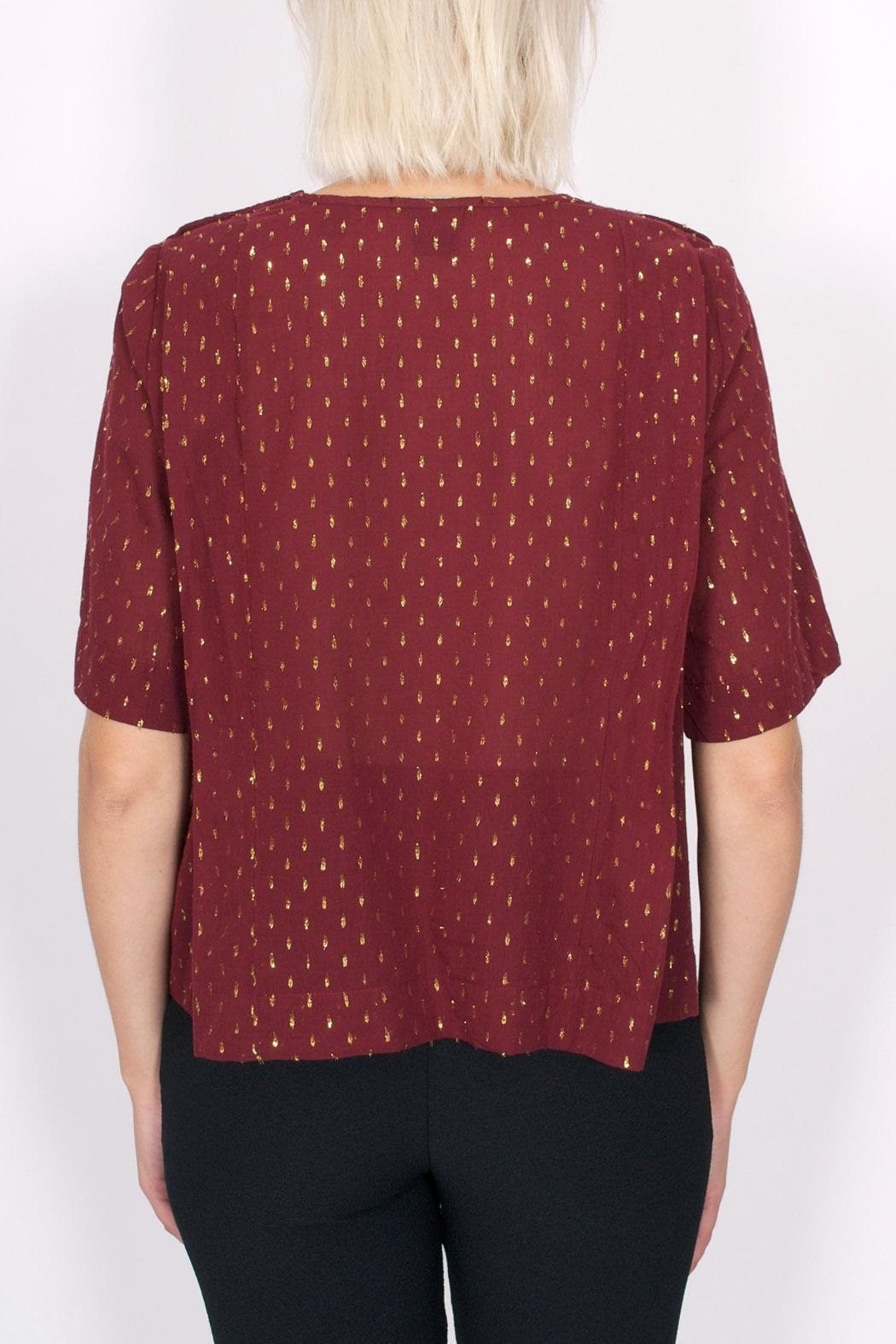Maison Scotch Dobby Lurex Top - Side Cropped Image