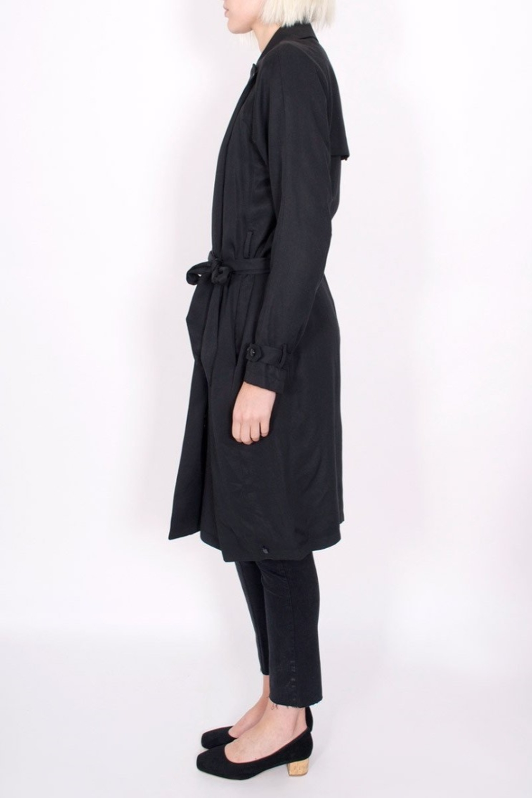 Maison Scotch Drapey Trench Coat - Front Full Image