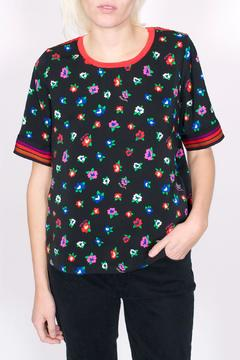 Maison Scotch Floral Silky Tee - Product List Image