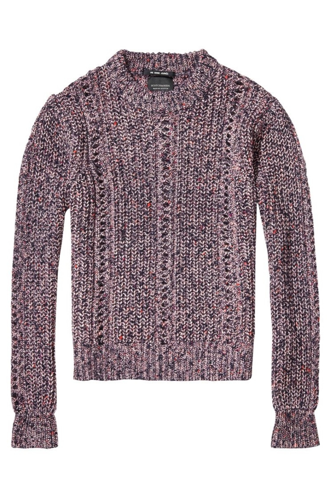 Maison Scotch Multi-Color Crew Sweater - Front Full Image