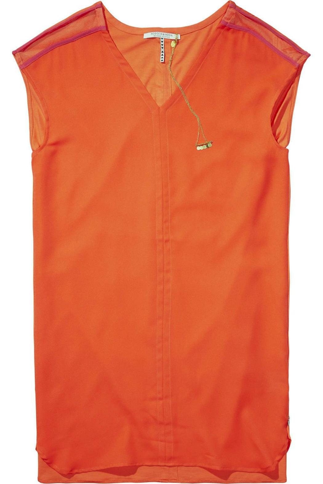 Maison Scotch Orange Shift Dress From Texas By Eurotrash Shoptiques