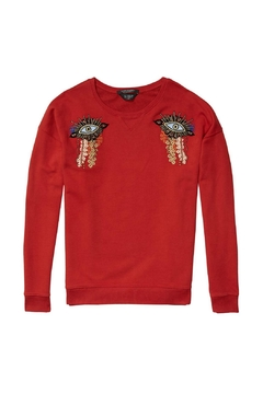 Maison Scotch Eye Embroidered Pull Over - Alternate List Image