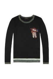 Maison Scotch Pullover Eye Embroidered - Product Mini Image