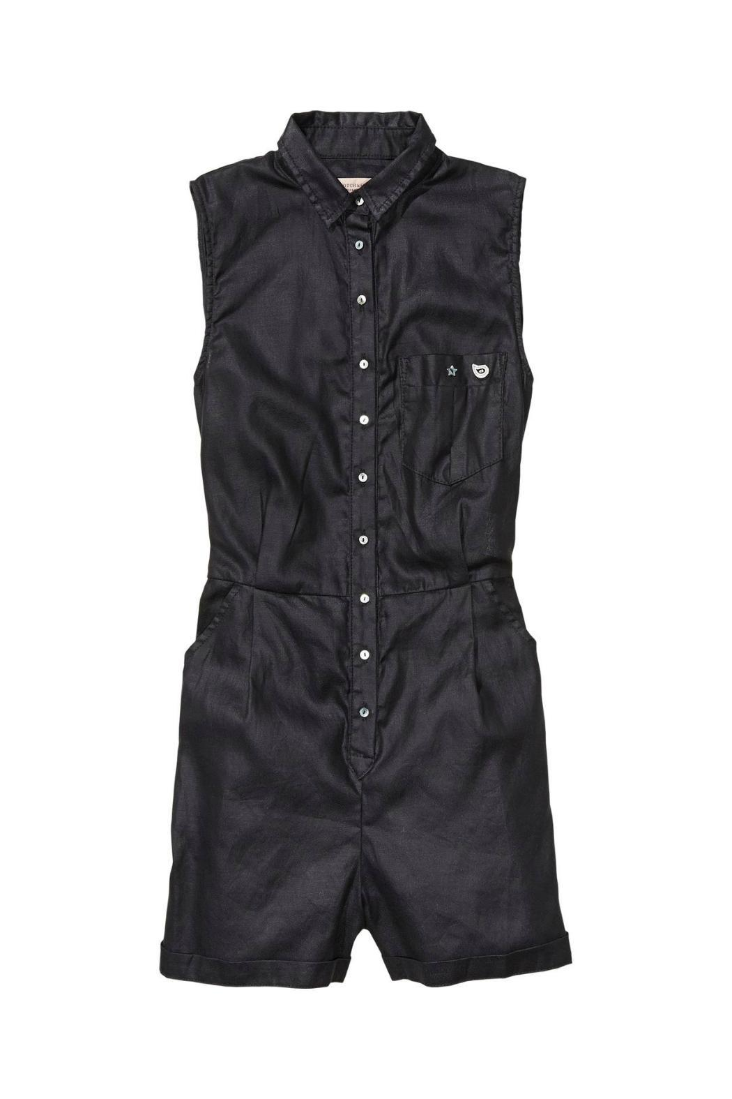Maison Scotch Black Romper - Side Cropped Image