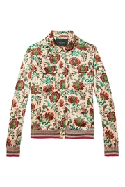 Maison Scotch Floral Silk Bomber Jacket - Product Mini Image